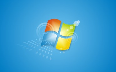 logo windows 7 fond bleu