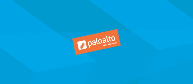 Logo palo alto networks orange fond bleu
